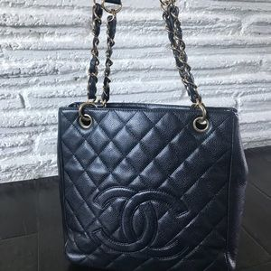 Chanel PETIT SHOPPING TOTE PST Caviar GHW